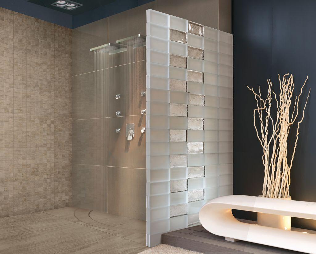 Badezimmer bank ~ Duschtrennwand edel mit satin und herbarium badezimmer