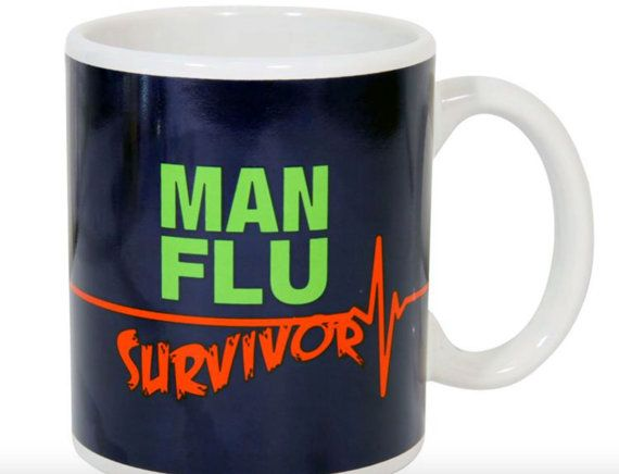 Husband Gift Man Flu Survivor Ceramic Mug in Gift Box Father ...