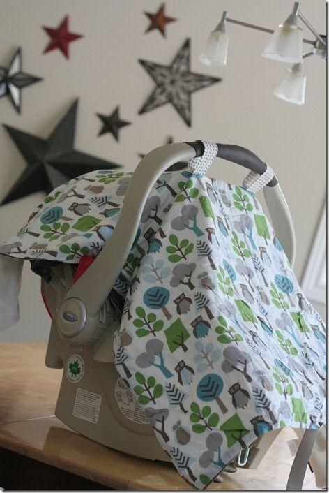 car seat blanket tutorial via Workman family blog.