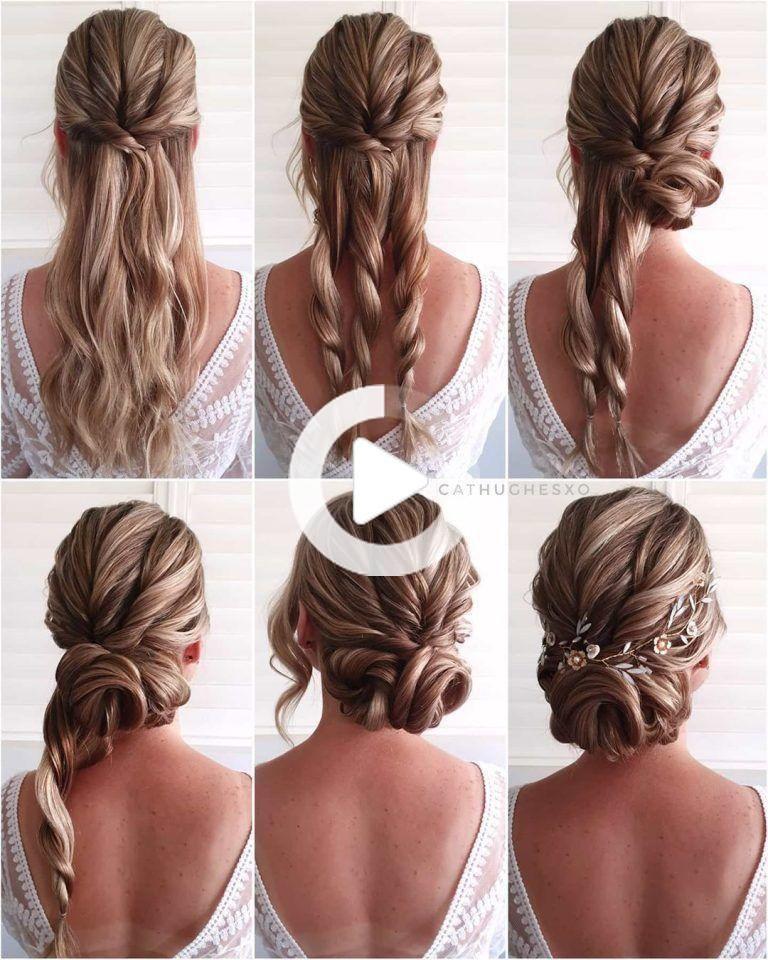 Simple And Pretty Side Fishbone Braid Diy Updo Hairstyle Tutorials For Wedding Gu In 2020 Updo Hairstyles Tutorials Braided Hairstyles For Wedding Hair Updos Tutorials