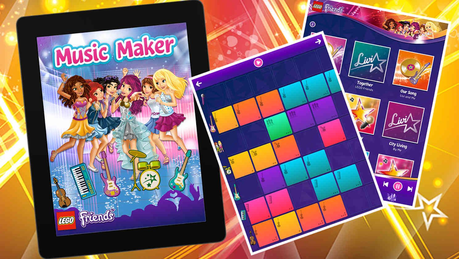 Music Maker App Games Lego Friends Legocom Friends Lego