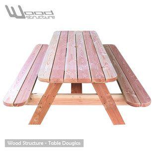 table de jardin - table de picnic - Wood Structure Shop - Mobilier ...