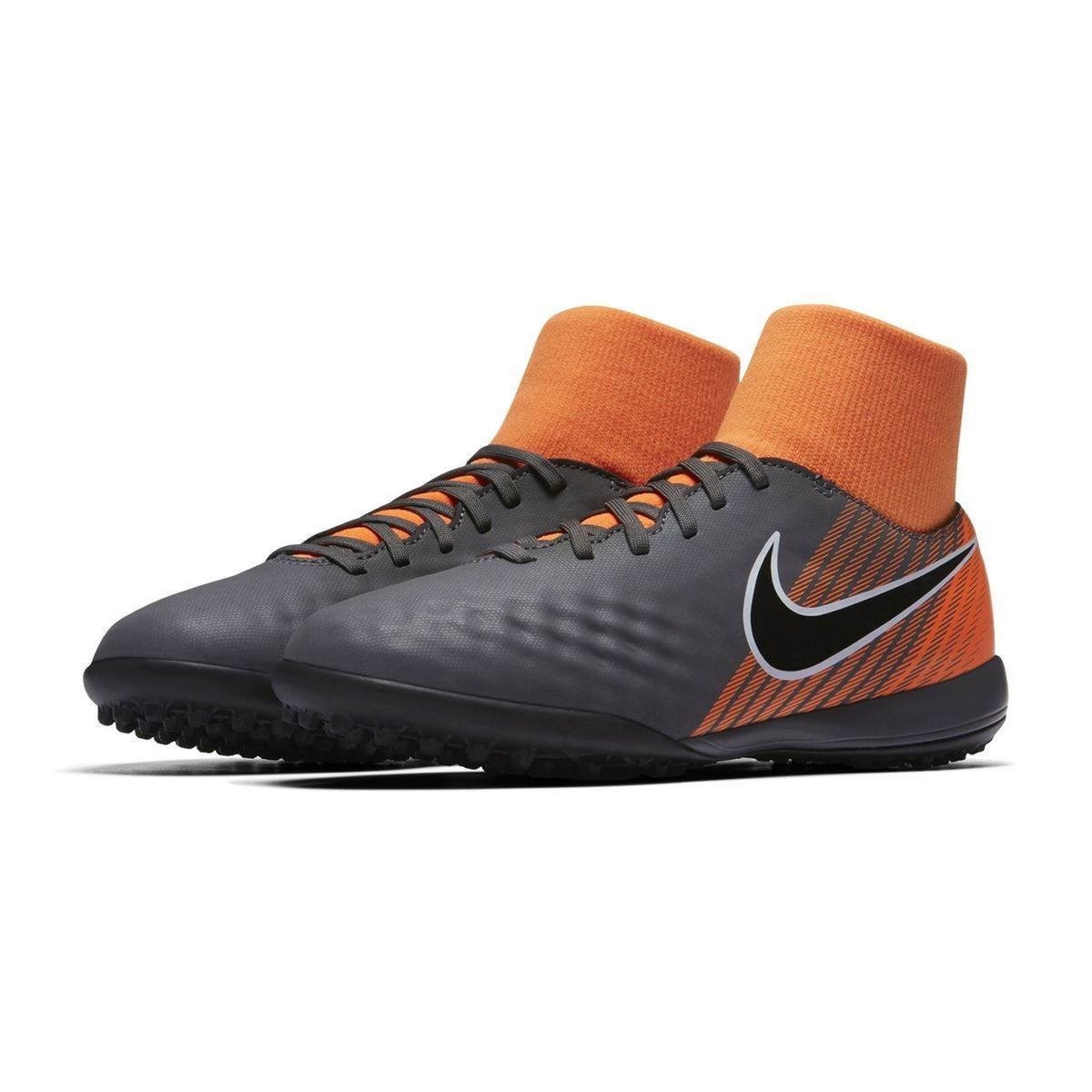3400f3da1129 Chaussures Football Chaussure De Football Nike Magistax Obra Ii Academy Df  Tf Gris orange Junior
