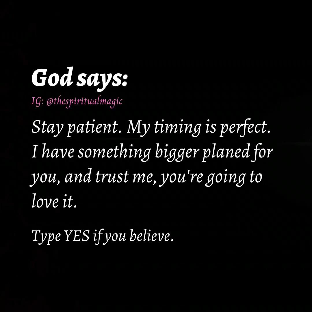 God says :