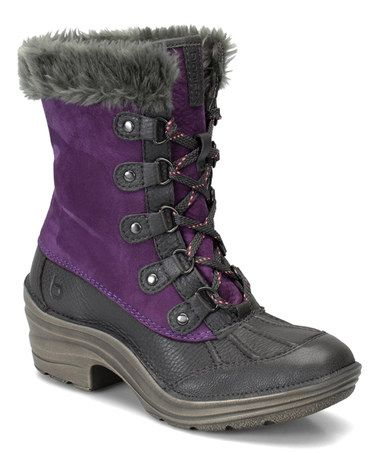 Snow boot · Purple and Pewter Rosemount Leather Boot Bionica ...