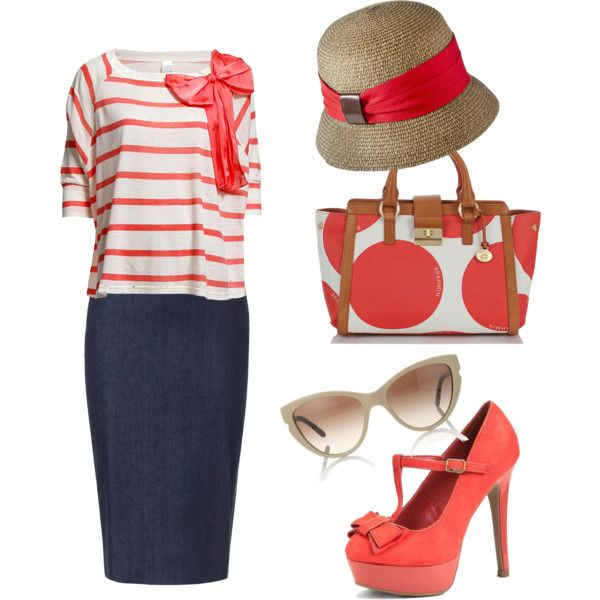 Casually Coral, created by withlove-sara on Polyvore