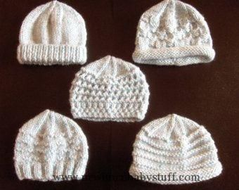 Baby Knitting Patterns Premature Small Baby Knitting Pattern For 5 Hats. d889efed37d