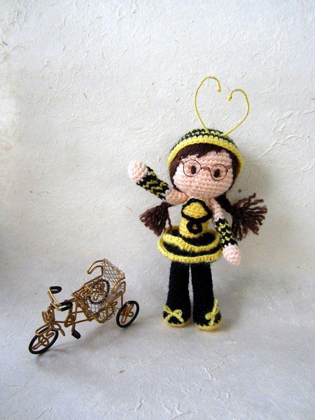 Free Bee Girl Amigurumi Pattern by Tales of Twisted Fibers | Cars ...
