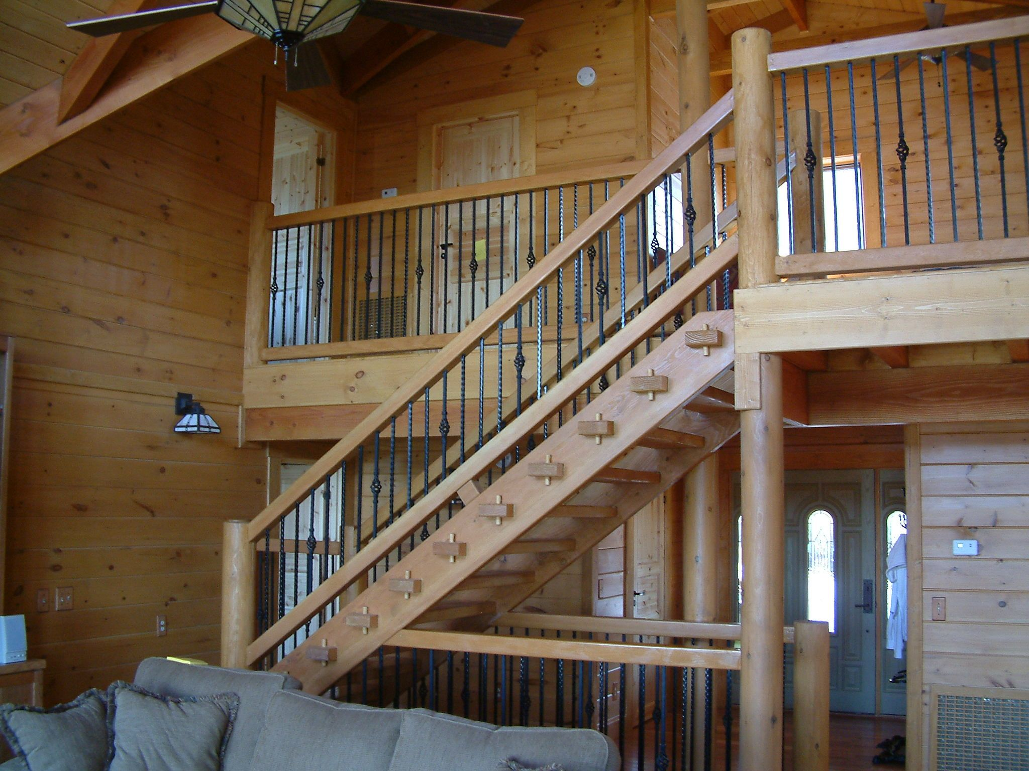 Best Prefer Straight Railing But Like General Idea For Stairs 400 x 300