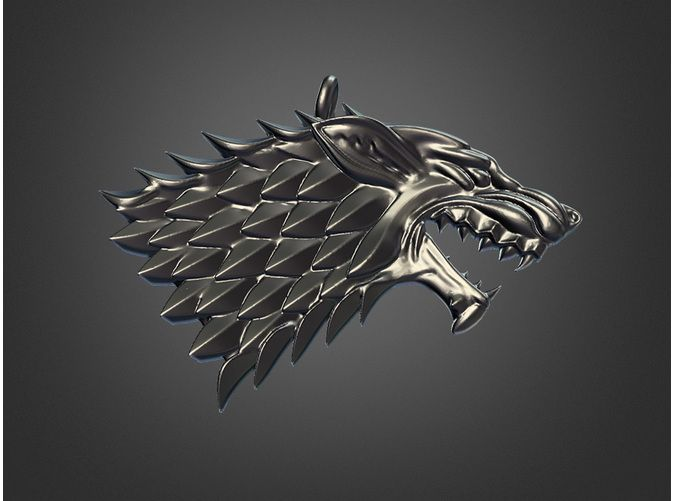 Game Of Thrones Stark By Dlc17 On Shapeways Shapeways Game Of Thrones Stark