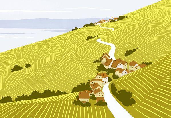 Landscapes by Pierre-Abraham Rochat, via Behance