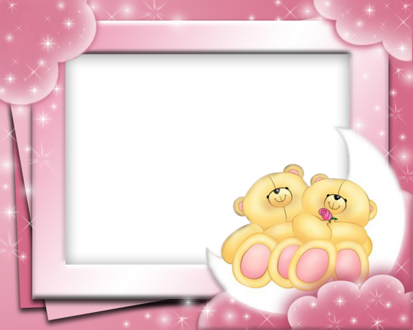 Cute Pink Frame with Bears | Cute Frames | Pinterest | Bears, Teddy ...