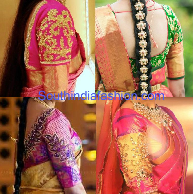 blouse designs for kanjeevaram sarees photo blouse