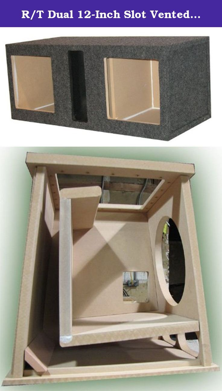 R T Dual 12 Inch Slot Vented Speaker Box With Squa Subwoofer Wiring Diagram Kicker L5 Solo Bark Square Holes For