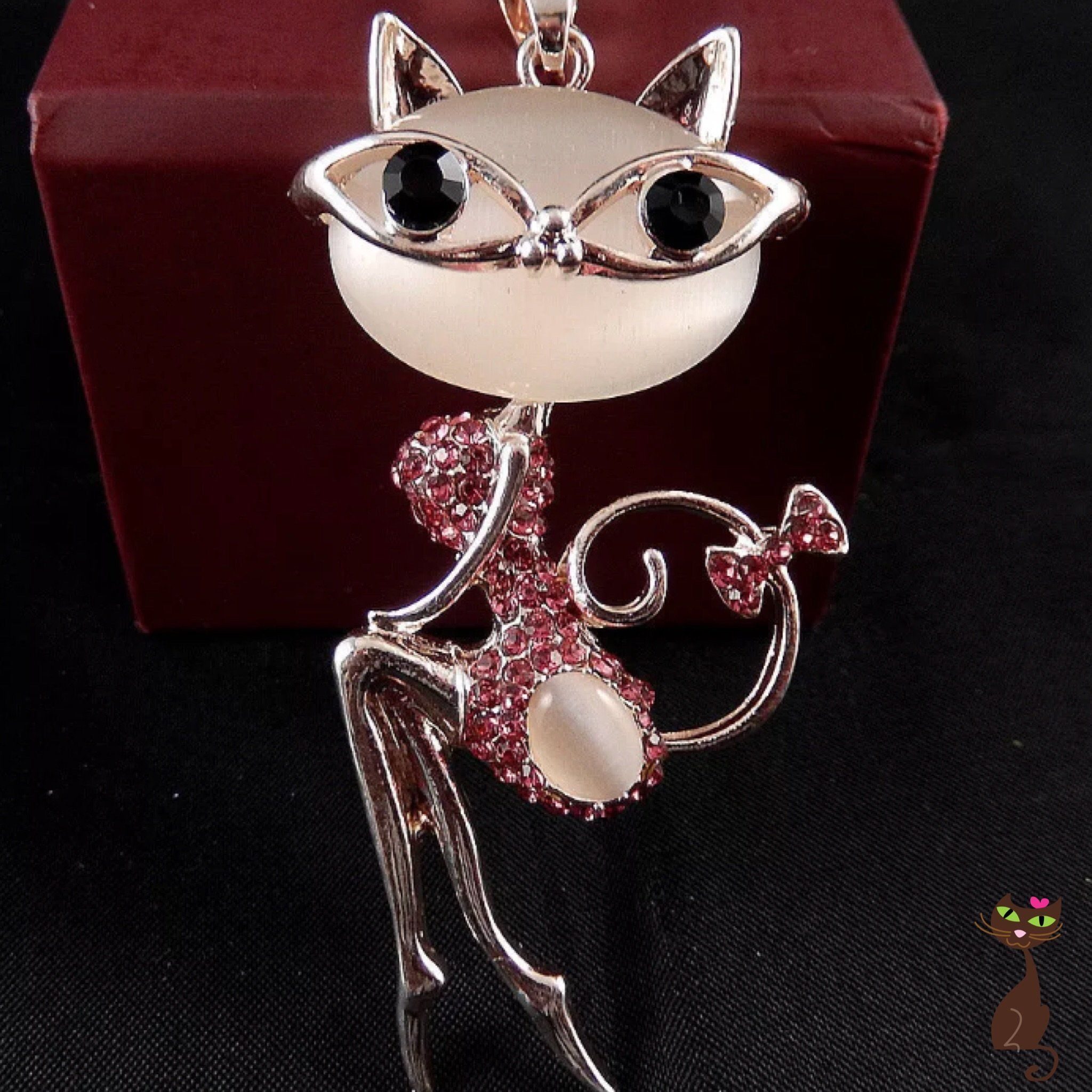 Pink Cat Lady Necklace