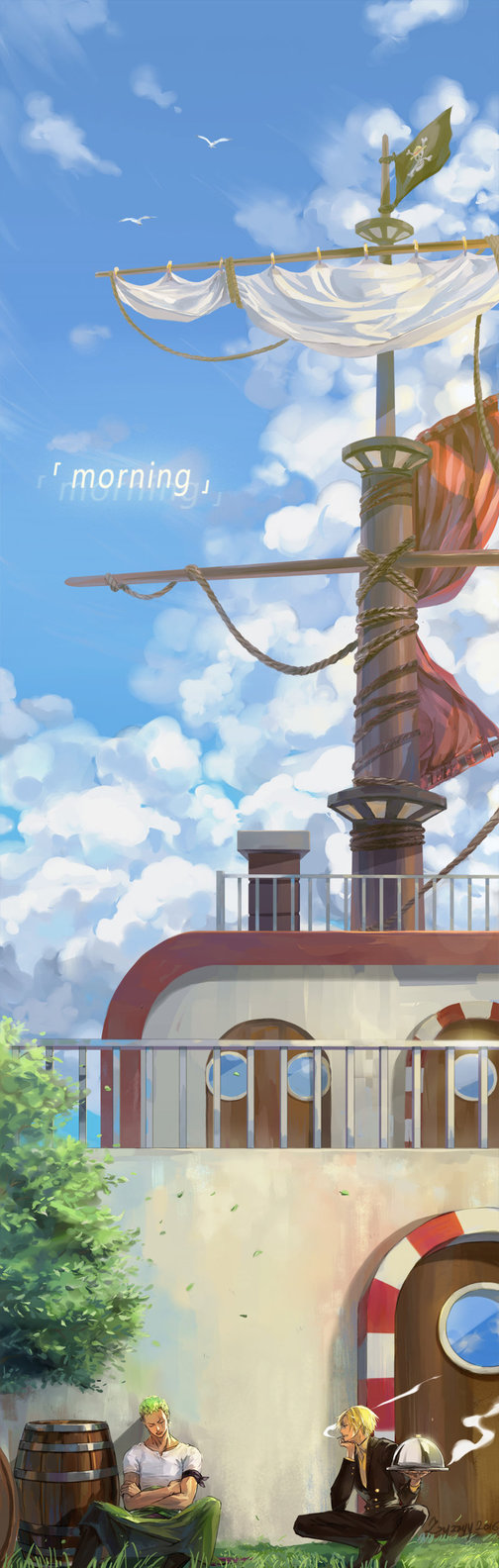 One Piece Thousand Sunny OP_morning by zzyzzyy on DeviantArt