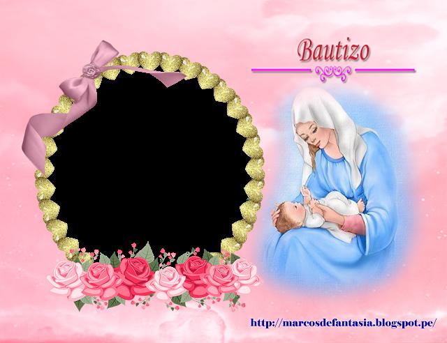 Mi Bautizo Marcos De Fantasia Imagenes De Bautizo Fotos De Bautizo Tarjetas De Bautizo Nina