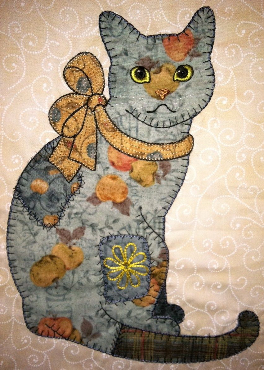 Anna\'s Awesome Appliques: Sample of Patch Cats in different color ...