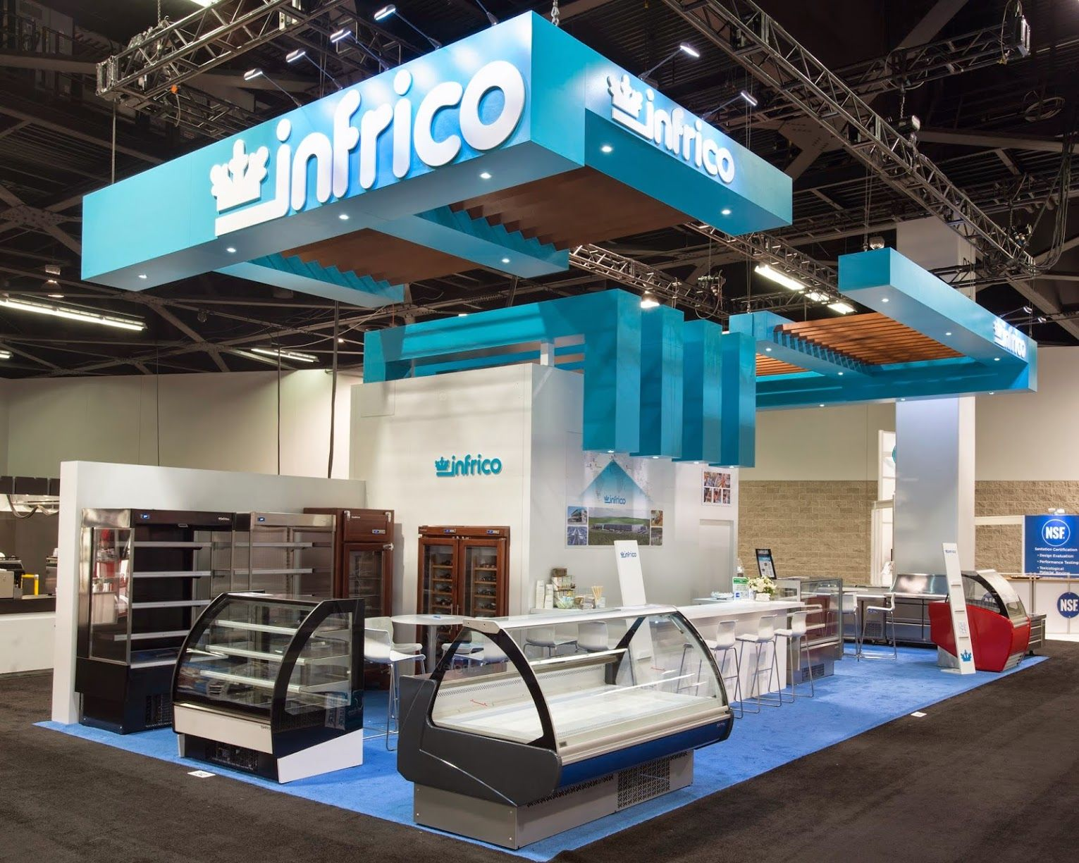 Custom Exhibition Stand Zone : X custom exhibition stand for infrico nafem