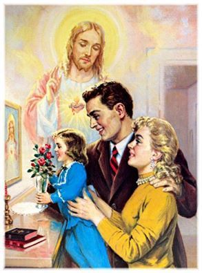 O most Sacred Heart of Jesus, King and center of all hearts, dwell in our hearts and be our King; grant us by Your grace to love each other truly and chastely,.