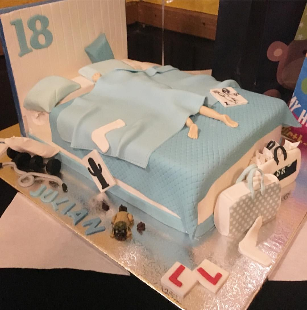 Birthday Cake Ideas For 18 Year Old Boy : Happy 18th birthday Julian. This cake is definitely fit ...