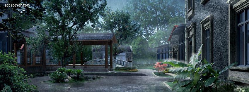 Spring Rain Facebook Covers, Spring Rain FB Covers, Spring Rain Facebook  Timeline Covers, Spring Rain Facebook Cover Images