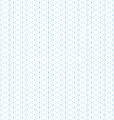 Empty Isometric Grid Seamless Pattern Vector  Isometric Paper