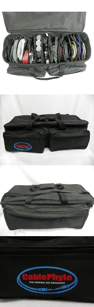 cable file bag cable accessories organizer gig bag soft case