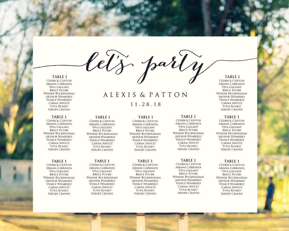 It S Easy To Create Your Own Personalized Wedding Seating Chart With Our Diy Editable Plan