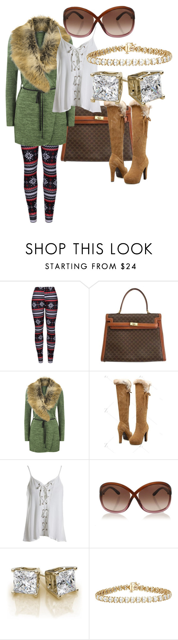 """weekend"" by sally-conarty ❤ liked on Polyvore featuring WithChic, CÉLINE, WearAll, Sans Souci and Tom Ford"