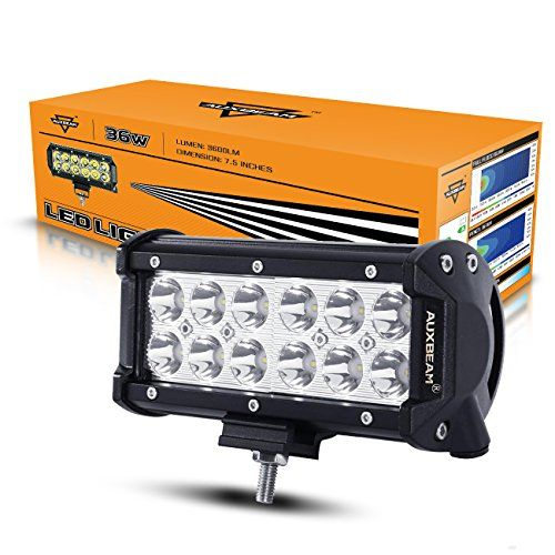 Auxbeam 7 Led Light Bar 36w 3600lm Cree Driving Light 30 Degree Spot Beam Waterfroof For Car Pickup Suv Utv Jeep Led Light Bars Bar Lighting Light Accessories