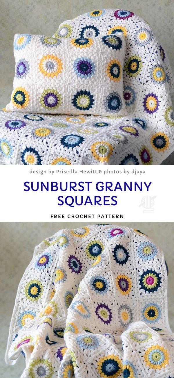 Sunburst Granny Square Crochet Ideas