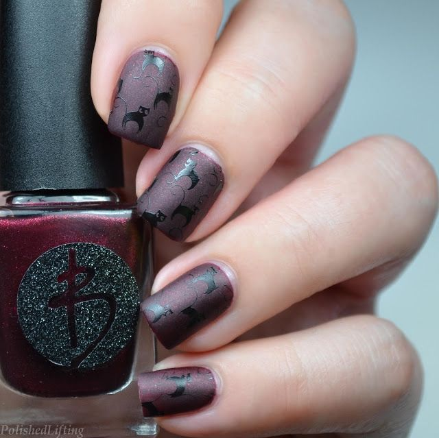 Vampy Cats featuring Bliss Polish Bite | Polished Lifting Nail Art ...