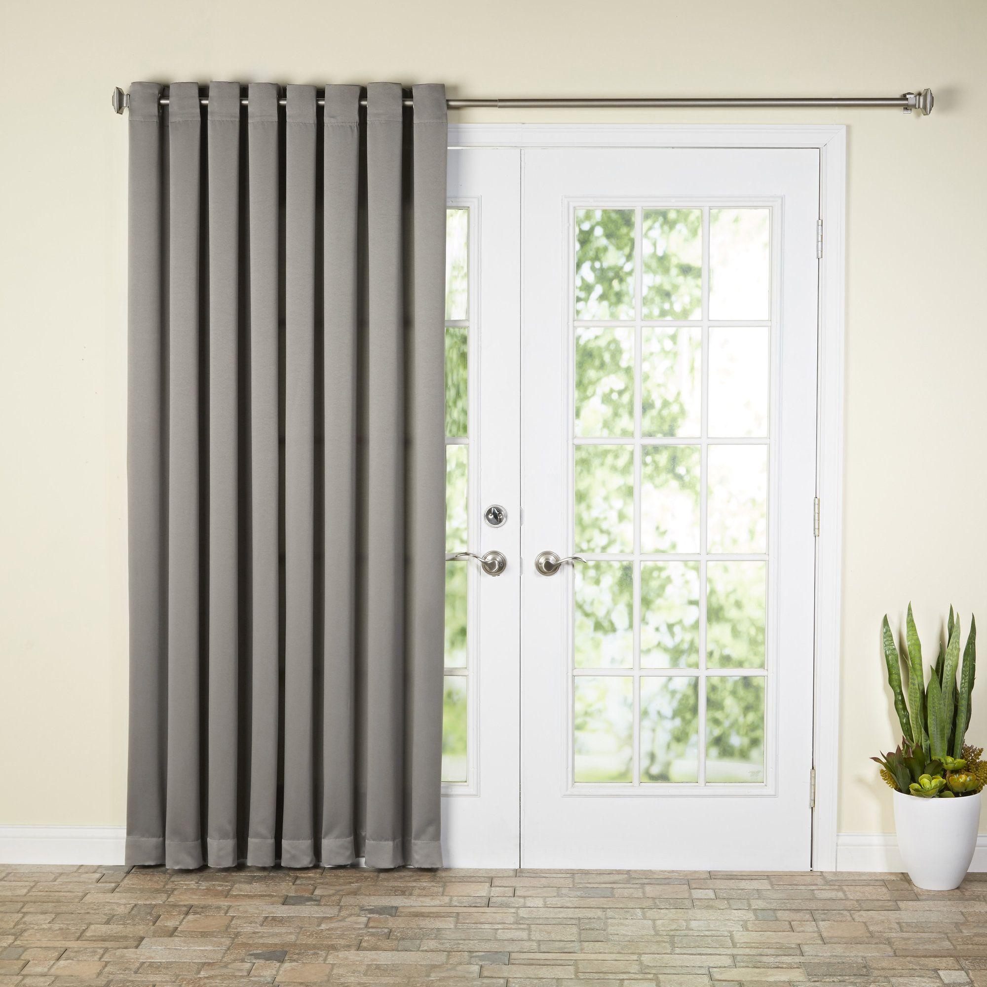 Solid Room Darkening Grommet Single Curtain Panel Patio Curtains