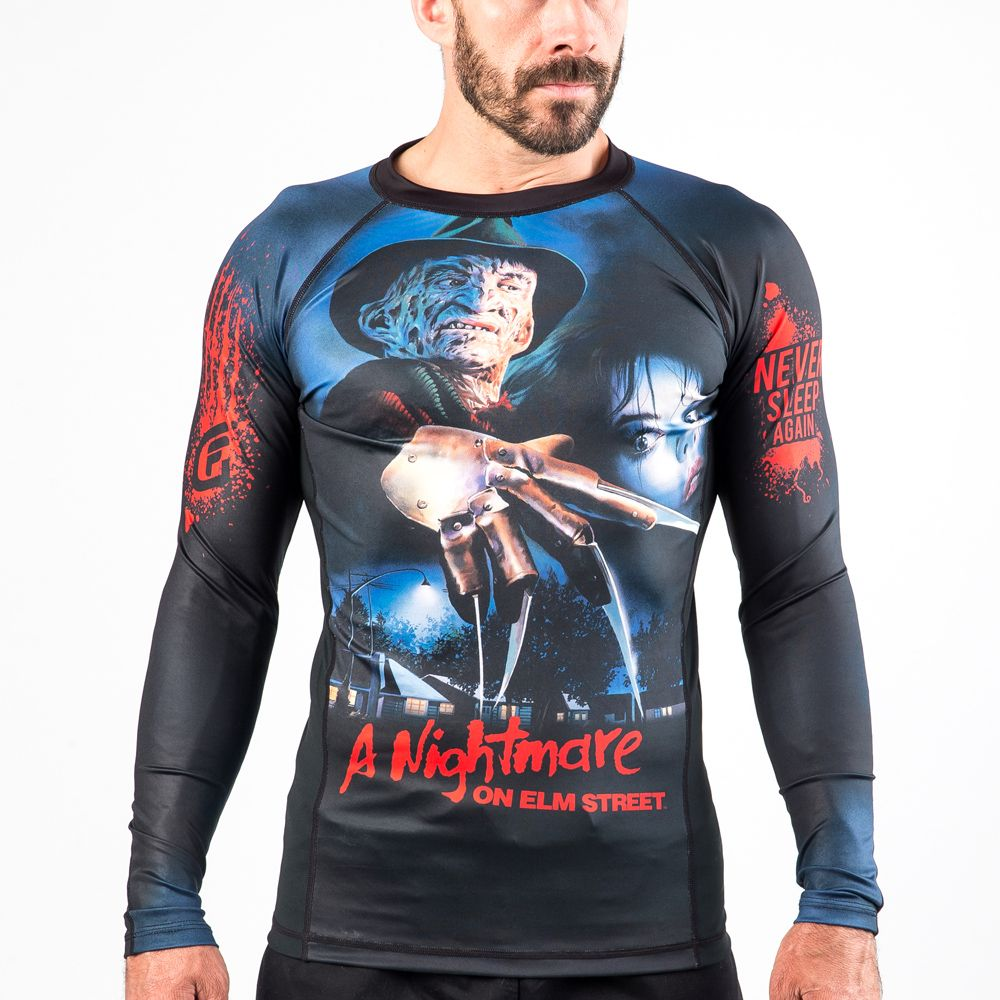 A Nightmare On Elm Street Compression Rash Guard (With