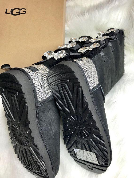 d9edcc96351b Ugg Swarovski Crystals Custom Bling Women s Bailey Bow