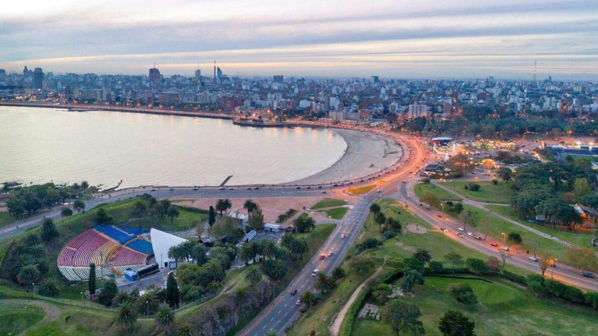 Montevideo Teatro De Verano Y Playa Ramirez Foto Drone 5