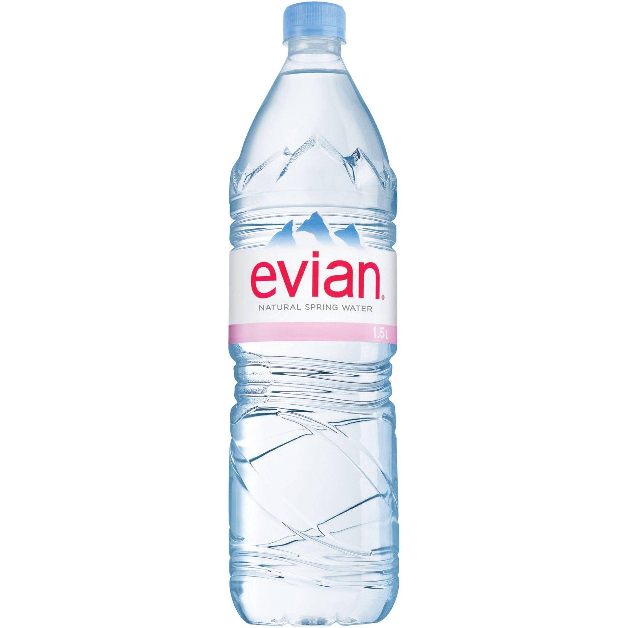 Evian Natural Spring Water 1 5l Bottle In 2020 Natural Spring Water Evian Spring Water