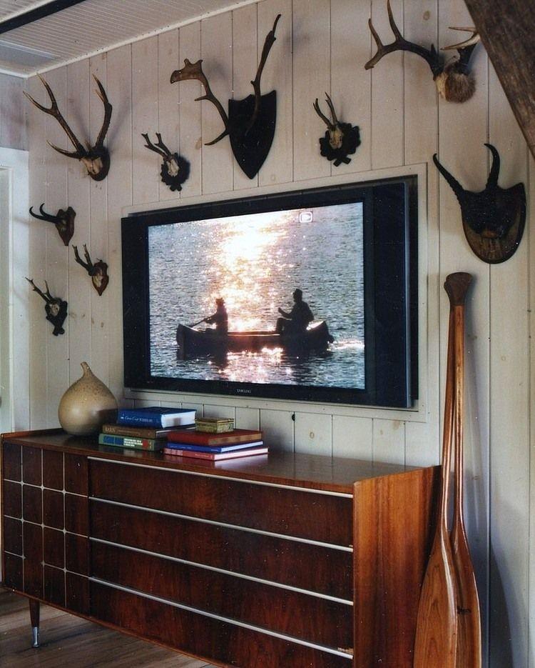 Thom Filicia Lake House lake housethom filicia like the framed out area for the tv