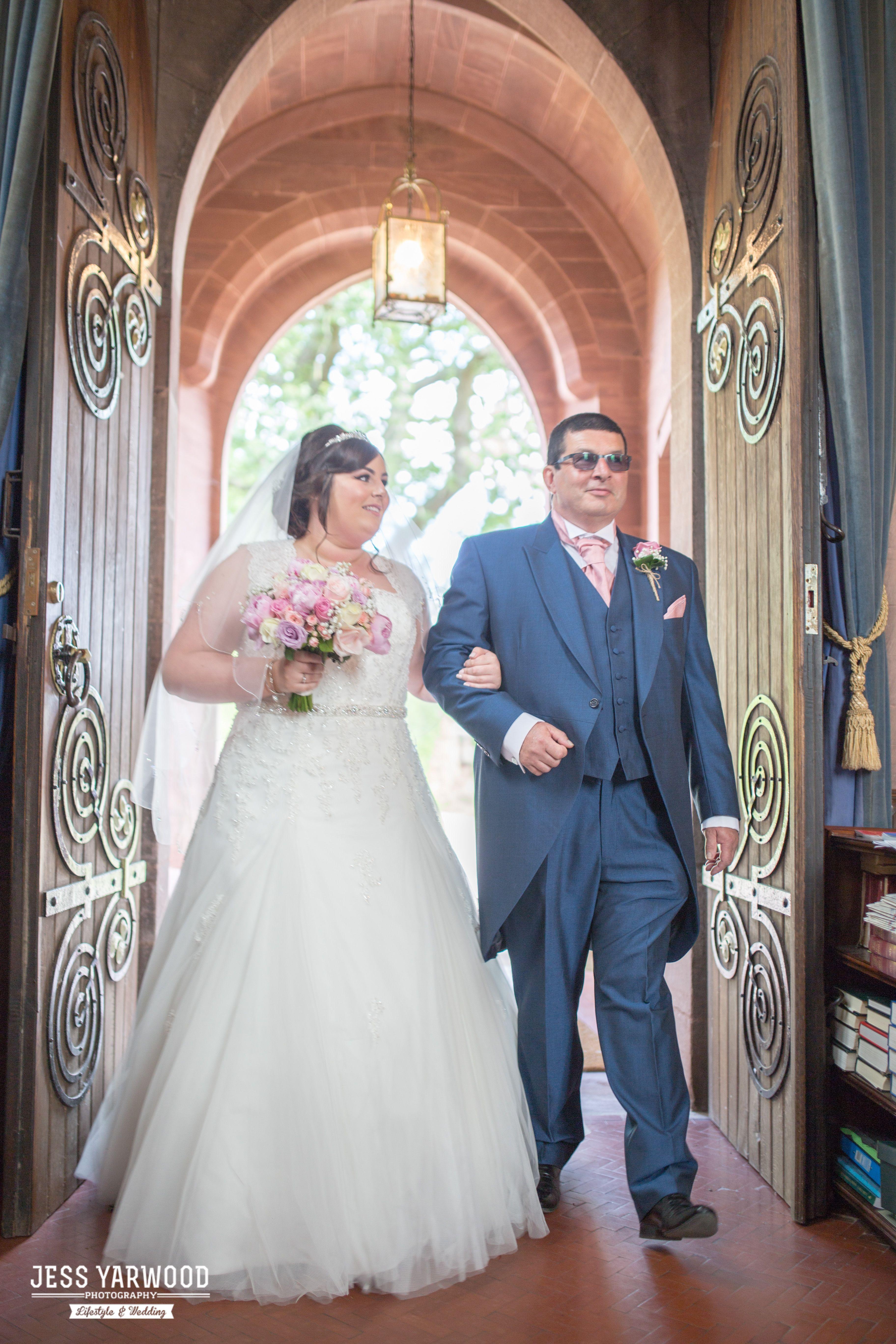 Grosvenor Pulford Chester Wedding Blue Photographer Jess Yarwood father bride