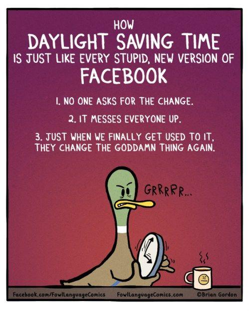 Daylight Saving Time Fowl Language Comics With Images