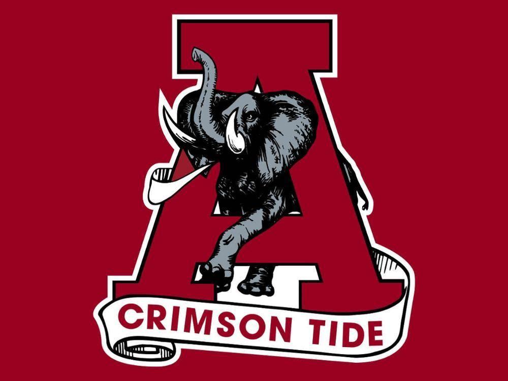 Alabama Crimson Tide Logo Hand Flag Products Pinterest Alabama