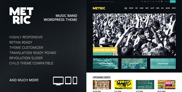 Metric: Music Band Responsive WordPress Theme - Music and Bands ...