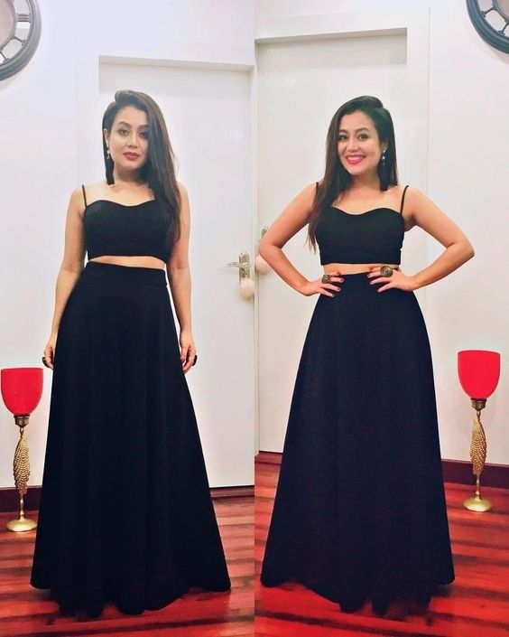 Neha Kakkar In Black Skirt Top Rayon Skirt Top Simple Skirt Top Party Wear Skirt Top Festival Skirt Top B Neha Kakkar Dresses Wedding Dresses For Girls Dresses