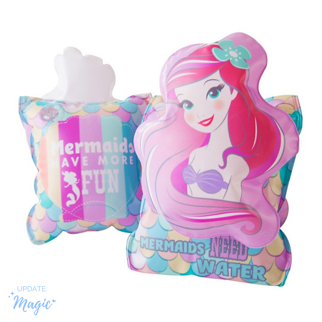 New//Boxed Disney Store Inflatable Armbands The Little Mermaid Ages 3-6