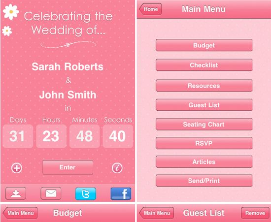 15 Awesome Wedding Apps to Help You Plan the Perfect Day | Wedding ...