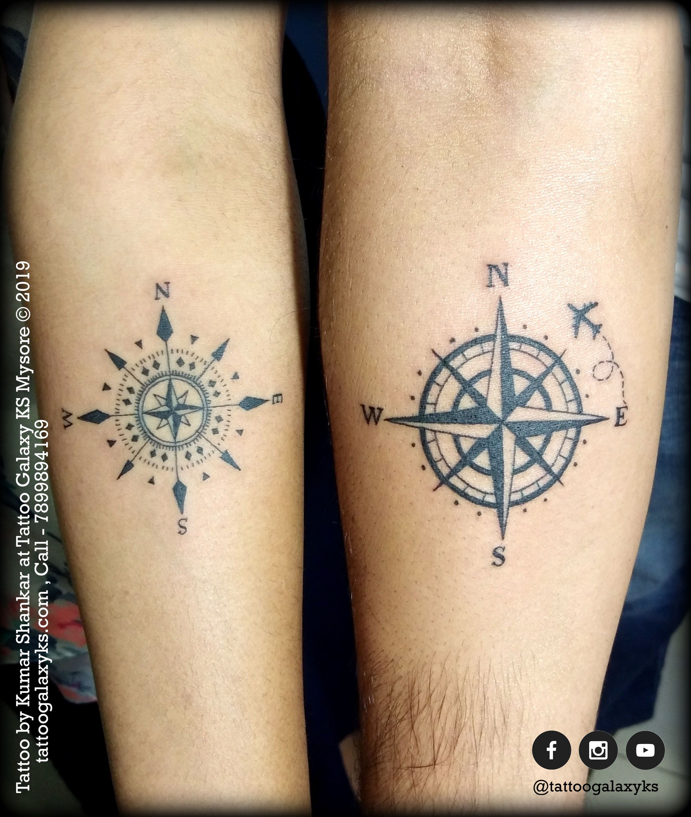 Couple Tattoo Compass Tattoo Couple Tattoos Tattoos