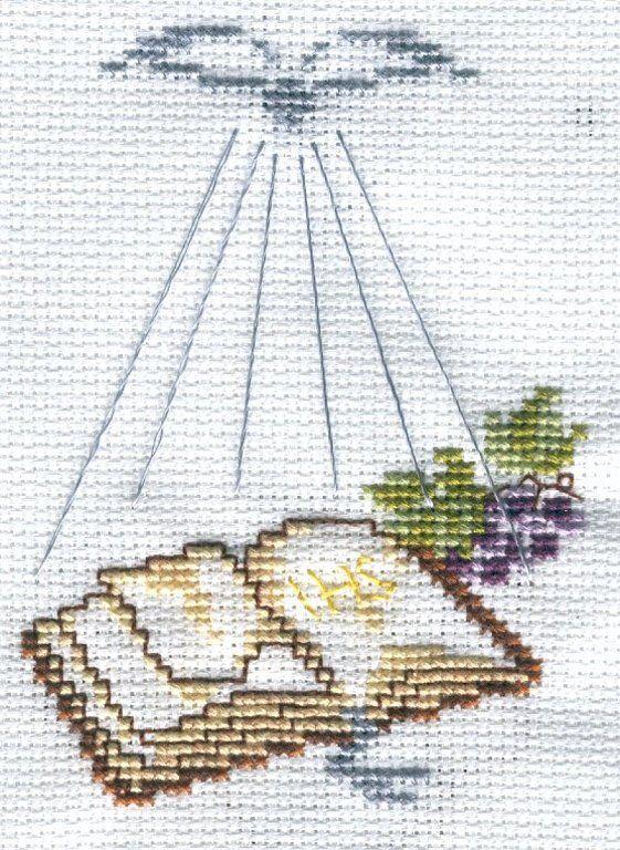 Bordado punto de cruz primera comunión - Imagui | patrones para ...