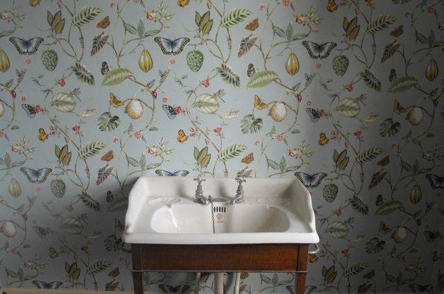 Papier peint vintage à motifs floraux en 25 idées fantastiques