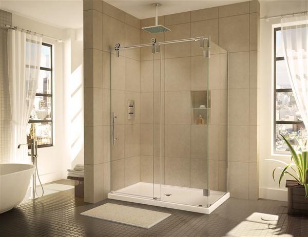 Fleurco Glass Shower Doors Kinetik Ks In Line 2 Sides Wall